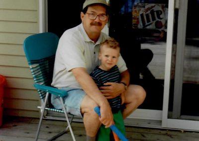 Dad-with-Beau-Hockey-Sticks